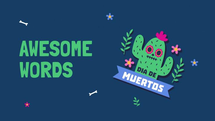 Día de Muertos Stickers presentation template