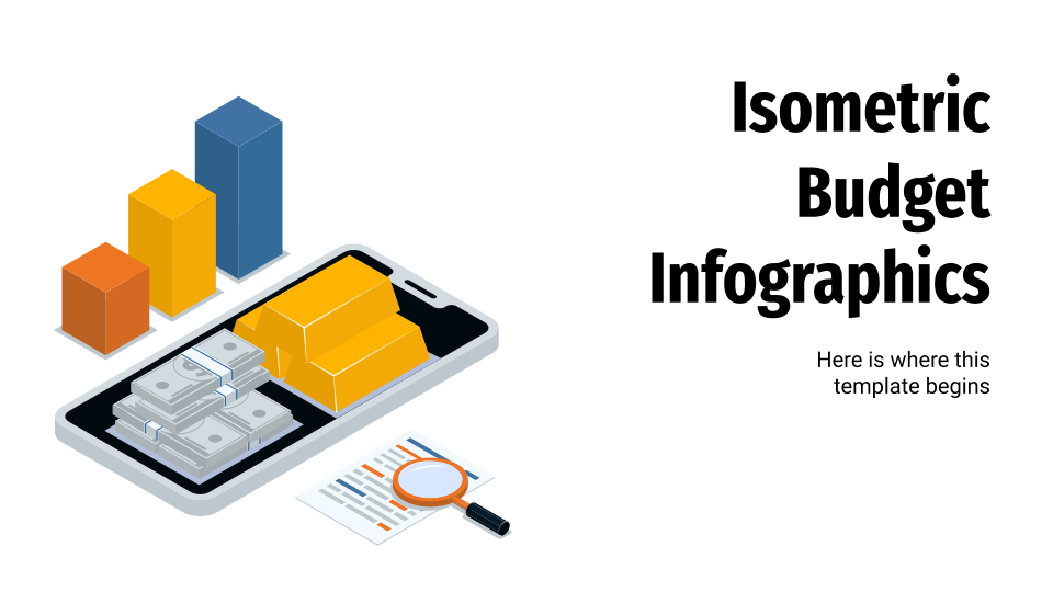 Isometric Budget Infographics presentation template