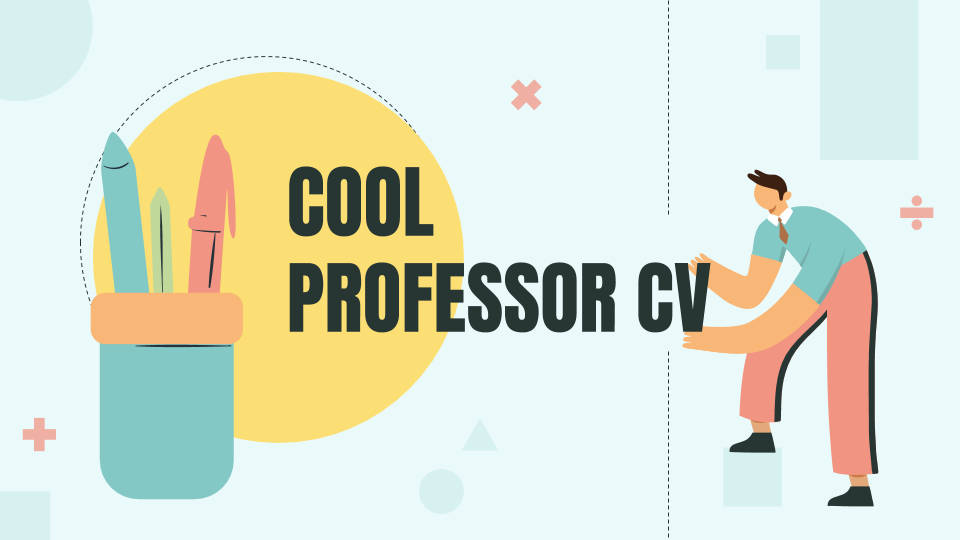 Cool Professor CV presentation template