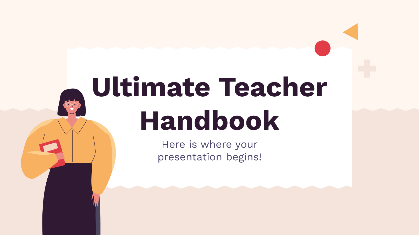 Ultimate Teacher Handbook presentation template