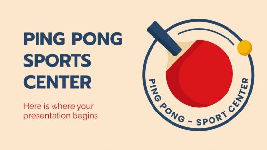 Ping Pong Sports Center presentation template