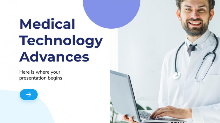 Medical Technology Advances presentation template