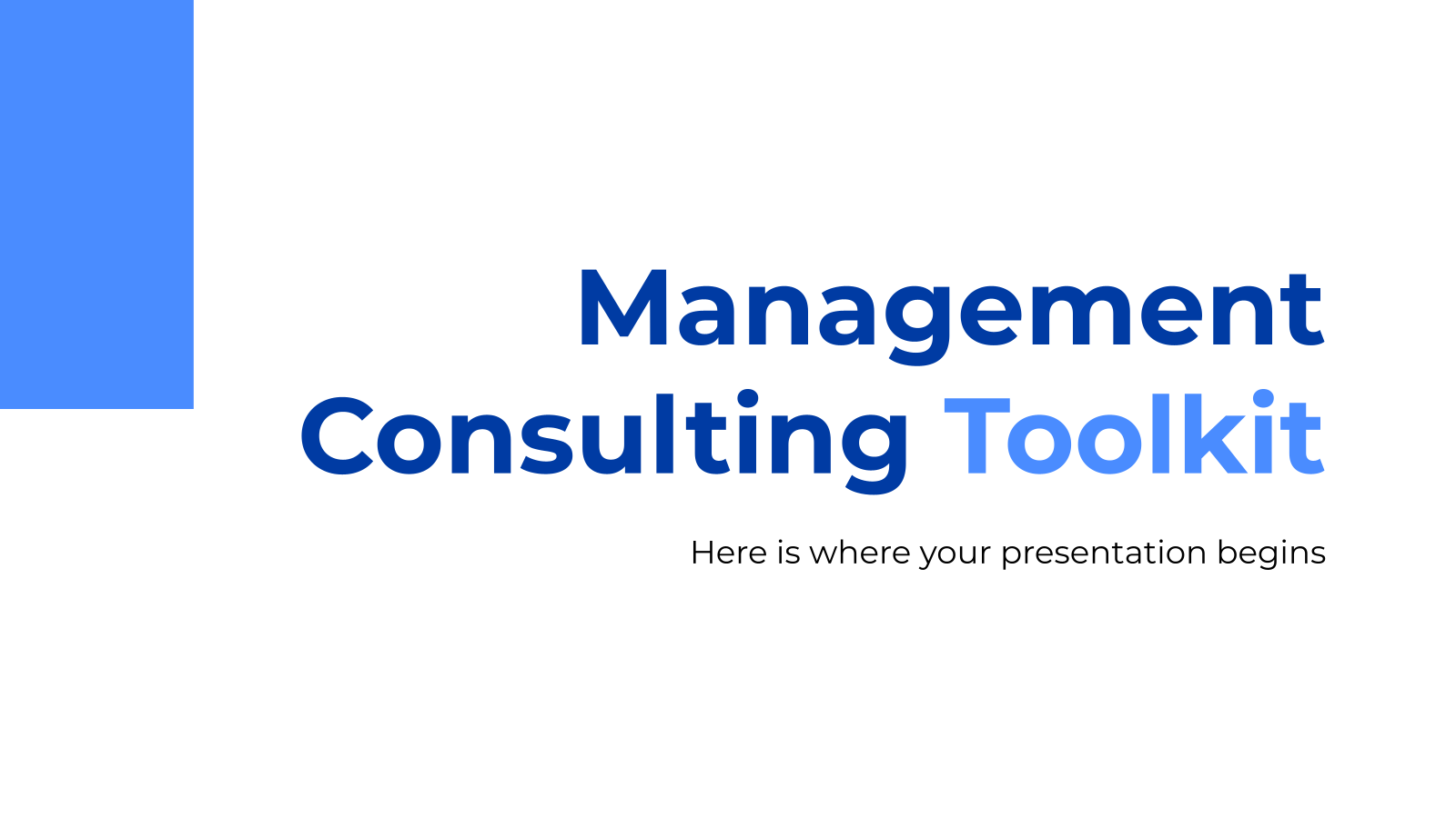 Management Consulting Toolkit presentation template