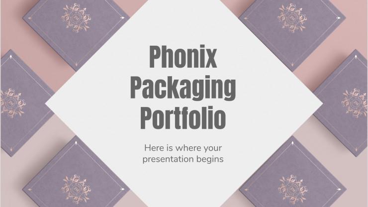 Modelo de apresentação Portfólio de embalagens Phonix