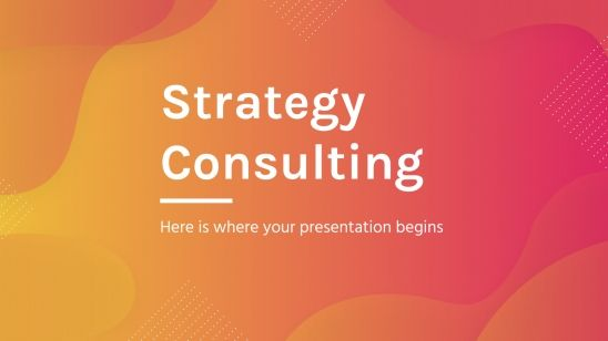 Strategy Consulting presentation template