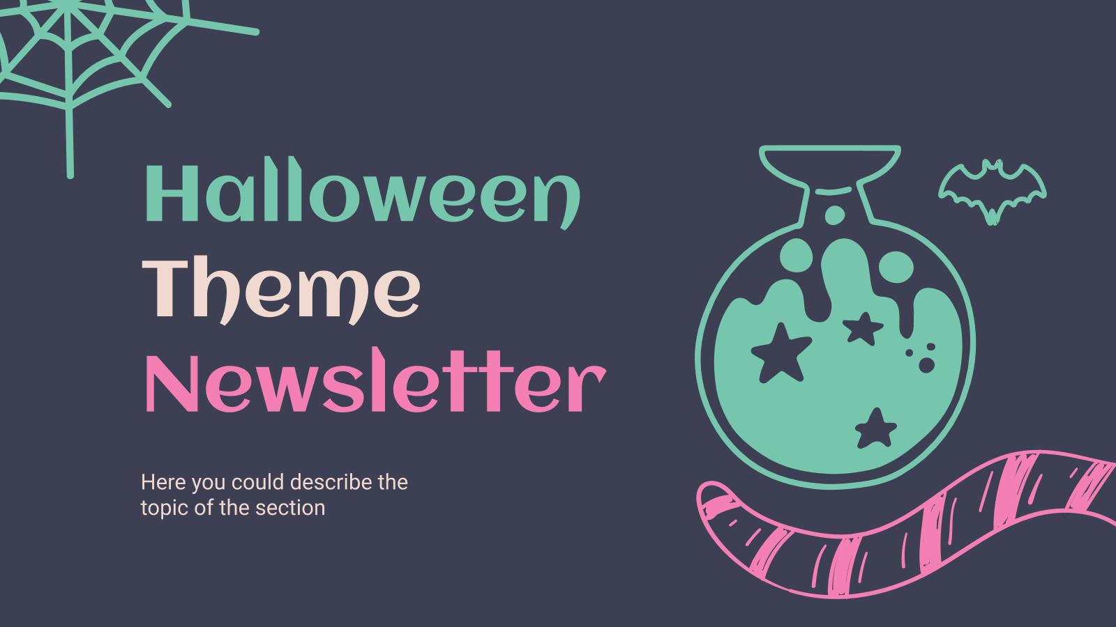 Modelo de apresentação Newsletter de Halloween
