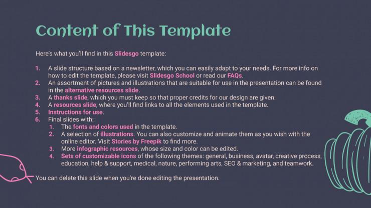 Halloween Theme Newsletter presentation template