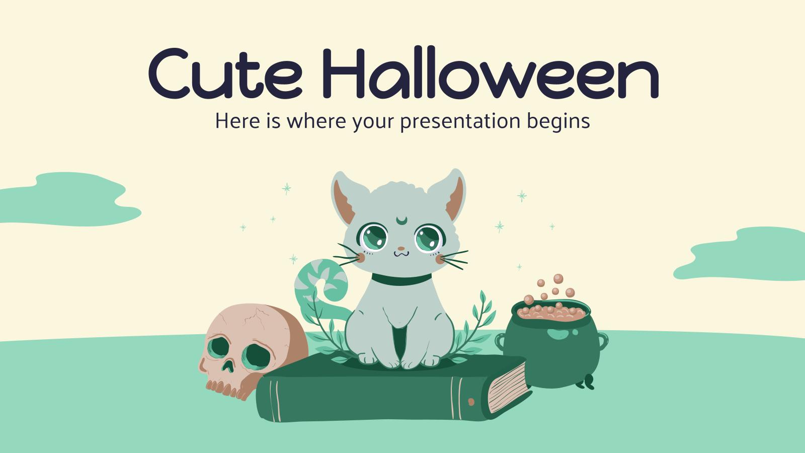 Modelo de apresentação Halloween fofo