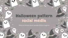 Halloween Pattern Social Media presentation template