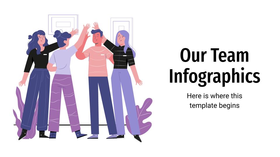 Infographies «Notre équipe» : Modèles de présentation