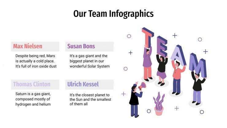 Plantilla de presentación Infografías de equipos