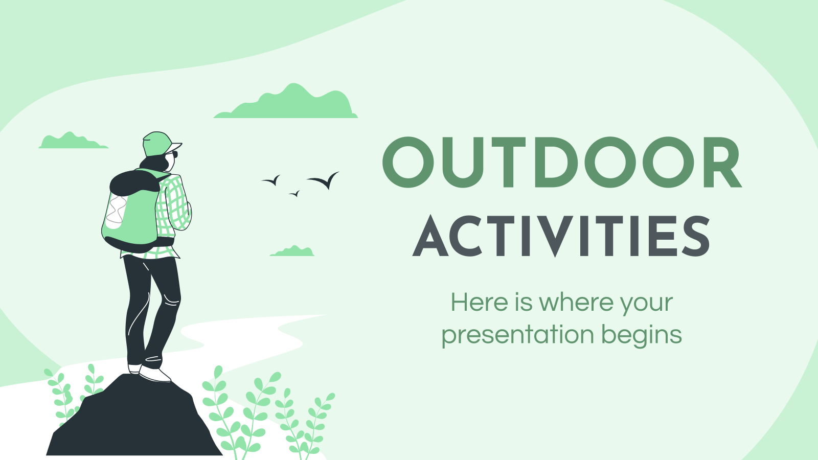 Outdoor Activities Company Profile presentation template