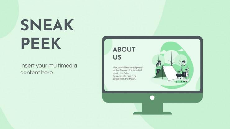 Profil d'entreprise d'activités en plein air : Modèles de présentation