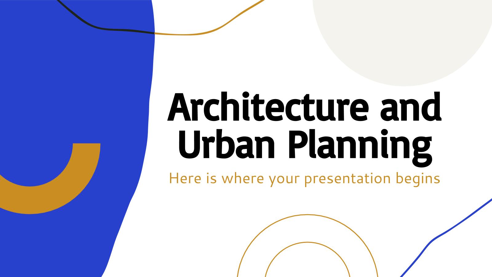 Plantilla de presentación Arquitectura y urbanística