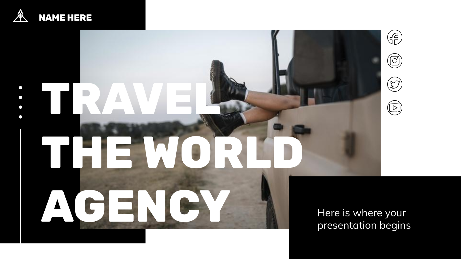 Travel the World Agency presentation template