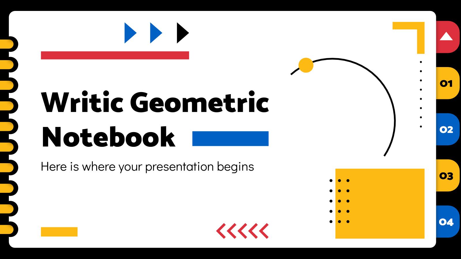 Plantilla de presentación Cuaderno geométrico Writic