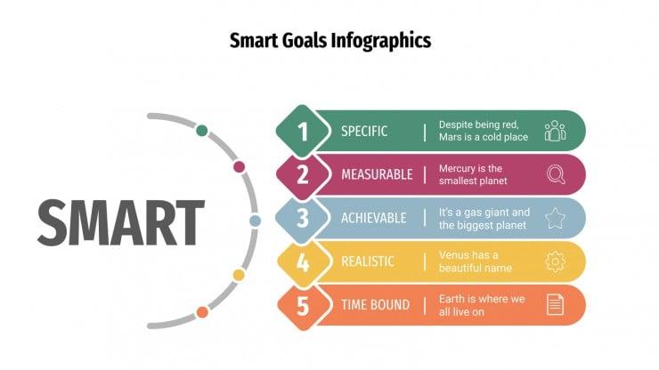 Smart Goals infographics presentation template