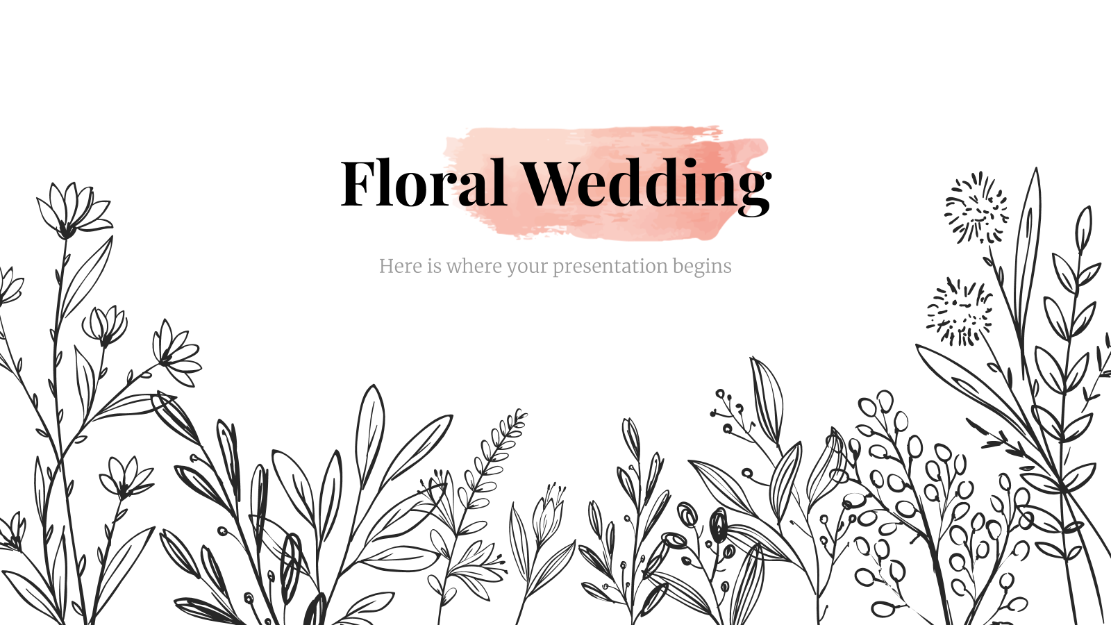 Floral Wedding presentation template
