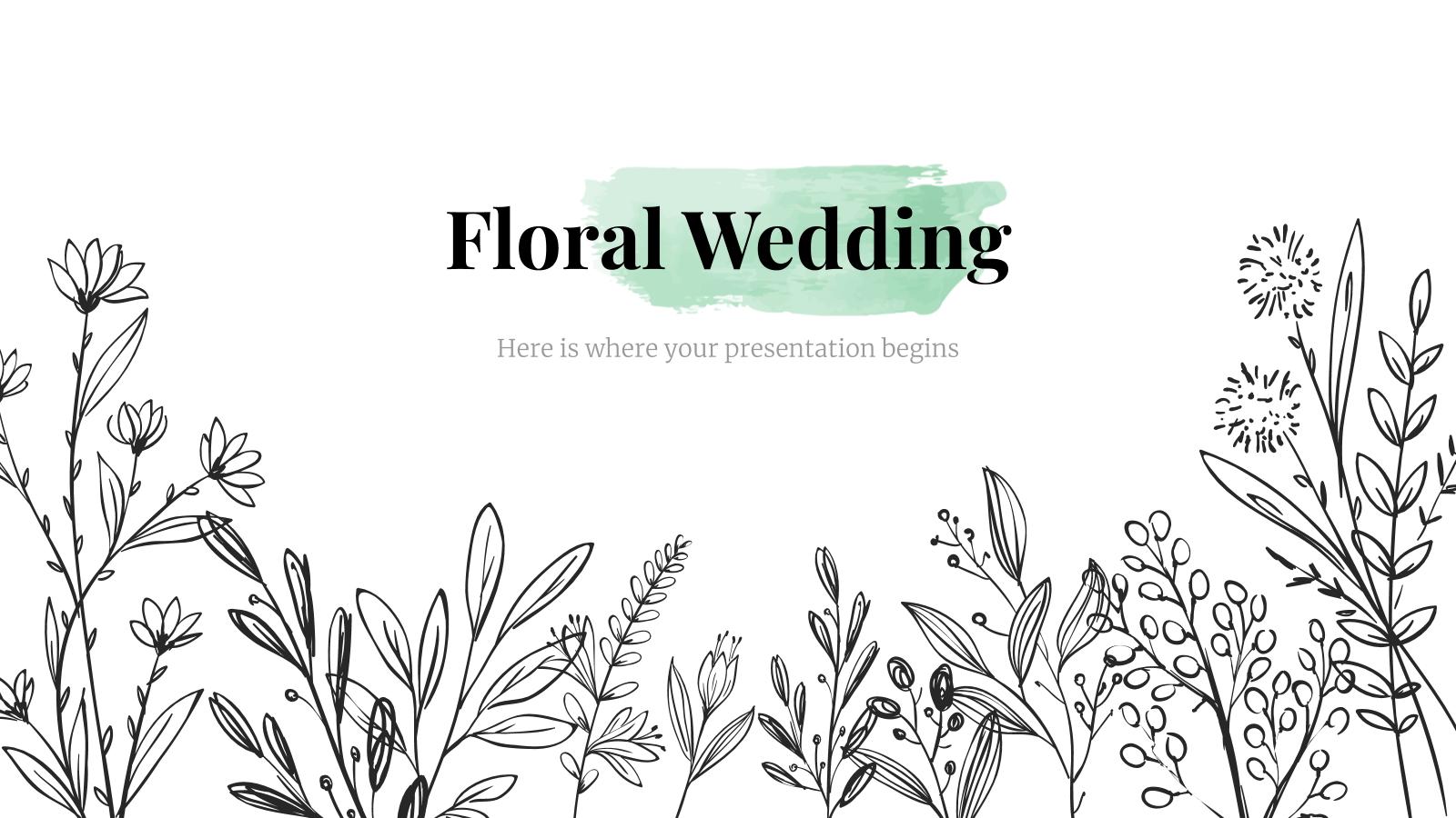 Mariage floral : Modèles de présentation