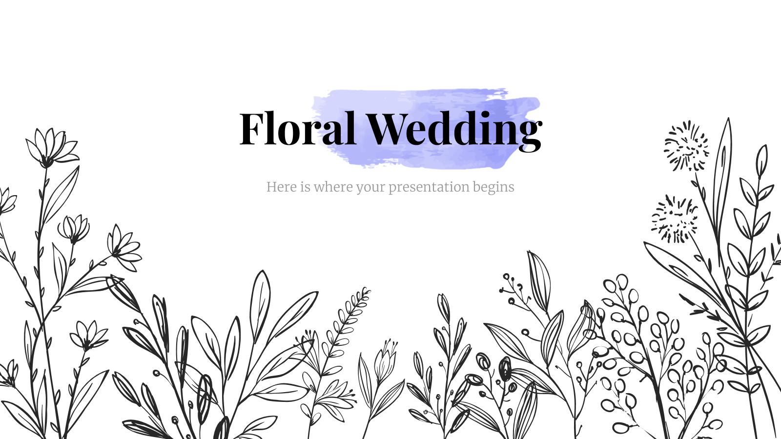 Floral Wedding presentation template