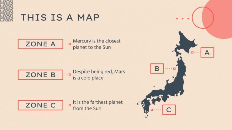 Plantilla de presentación Las calles de Japón