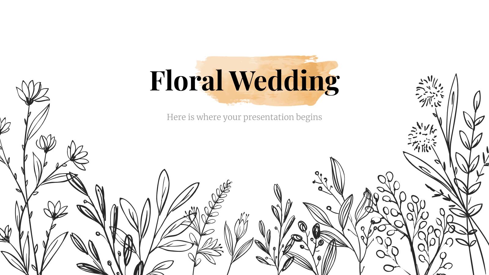 Modelo de apresentação Casamento floral