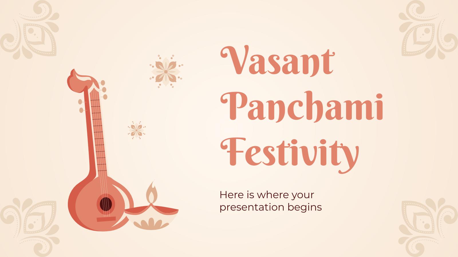 Modelo de apresentação Festa de Vasant Panchami