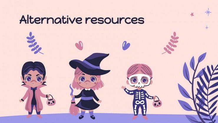 Plantilla de presentación Un Halloween adorable