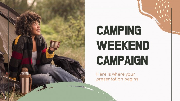 Camping Weekend Campaign presentation template