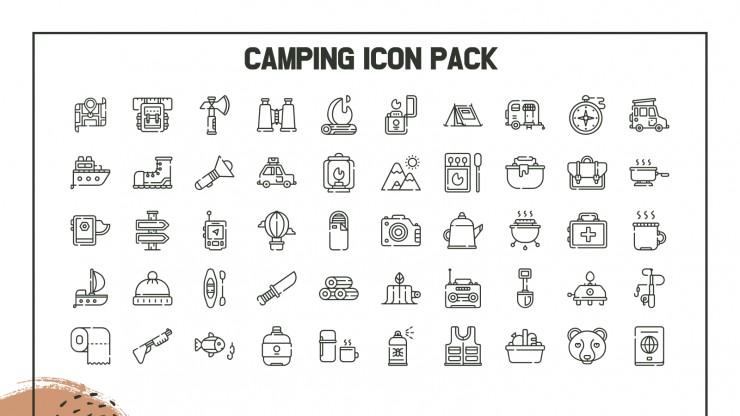 Plantilla de presentación Fin de semana de acampada