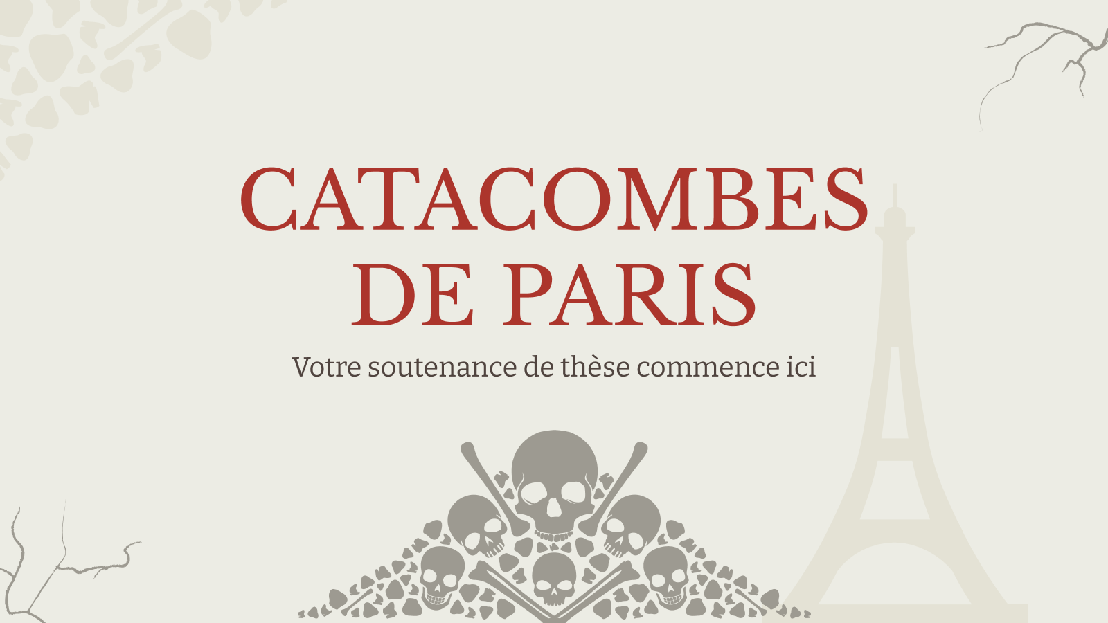 Catacombes de Paris presentation template