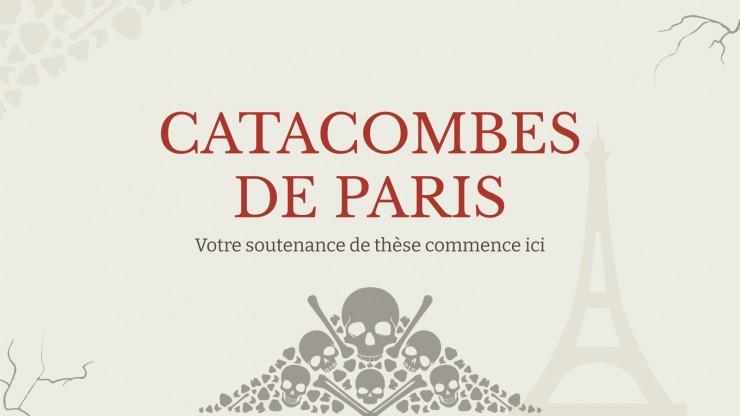 Plantilla de presentación Catacumbas de París