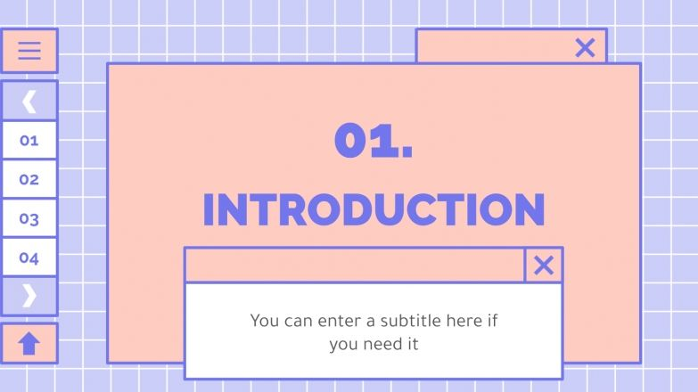 Cute Lovely Interface presentation template