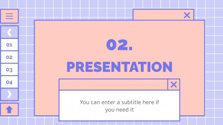 Modelo de apresentação Interface adorável