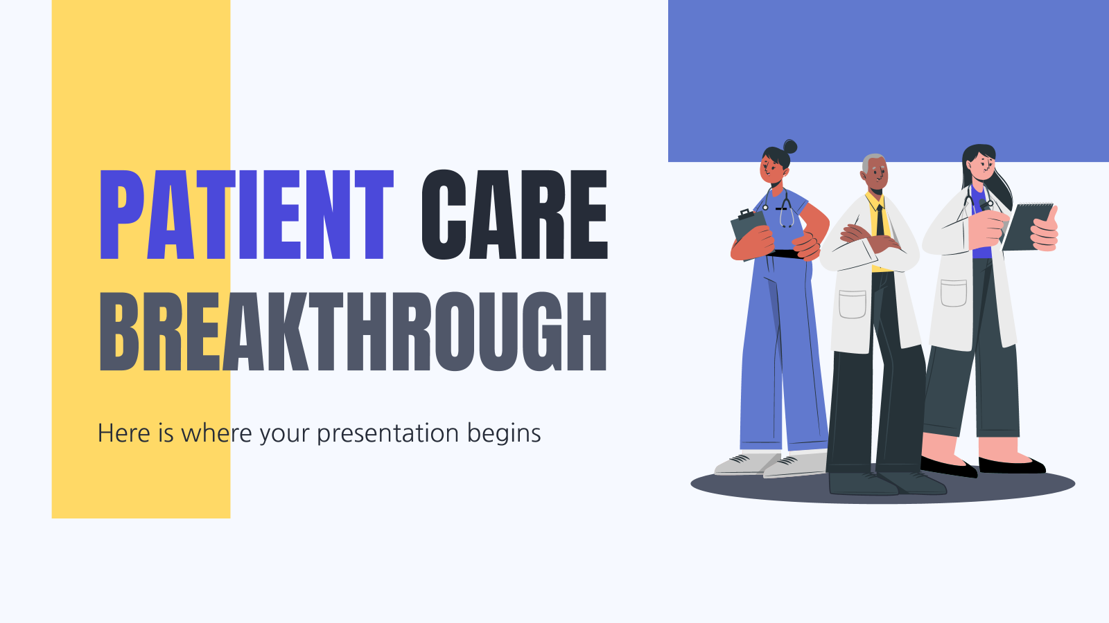 Patient Cure Breakthrough presentation template