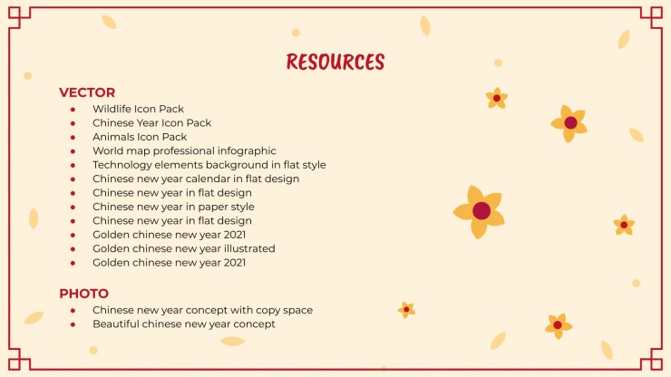 Plantilla de presentación Actividades artísticas para Año Nuevo Chino