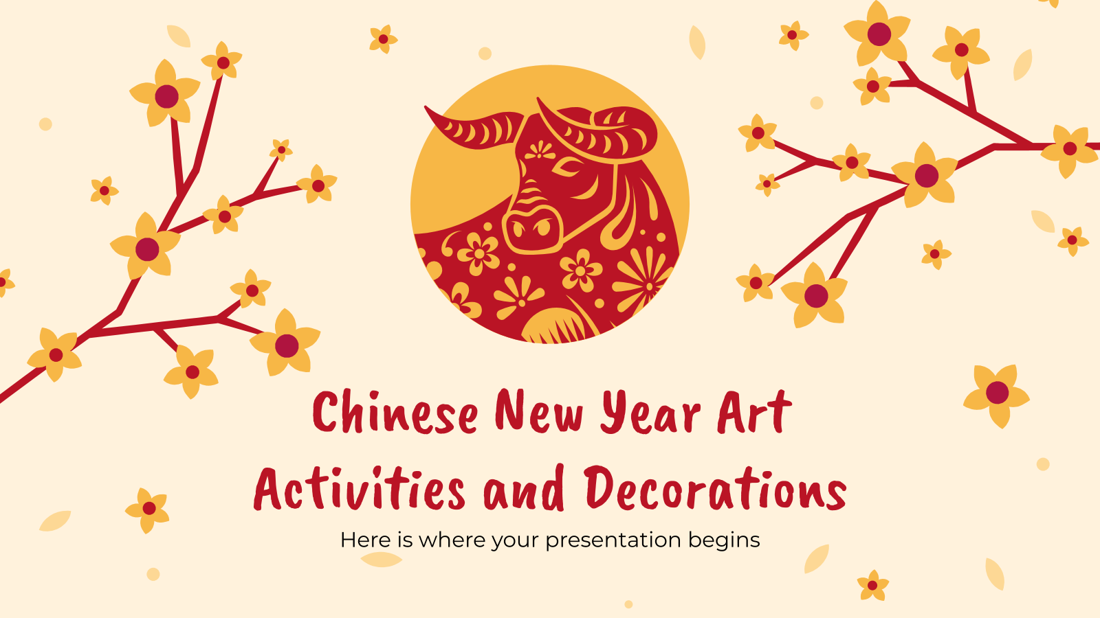 Chinese New Year Art Activities and Decorations presentation template