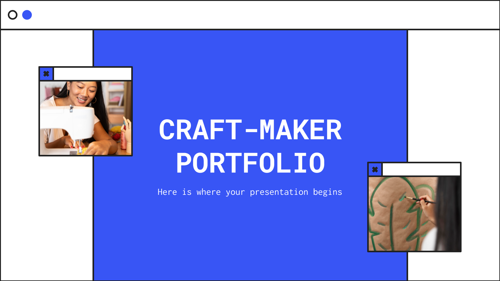 Craft-Maker Portfolio presentation template