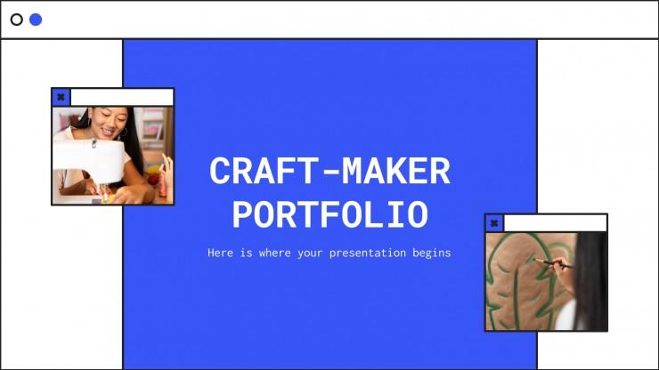 Plantilla de presentación Portafolio de artesanos