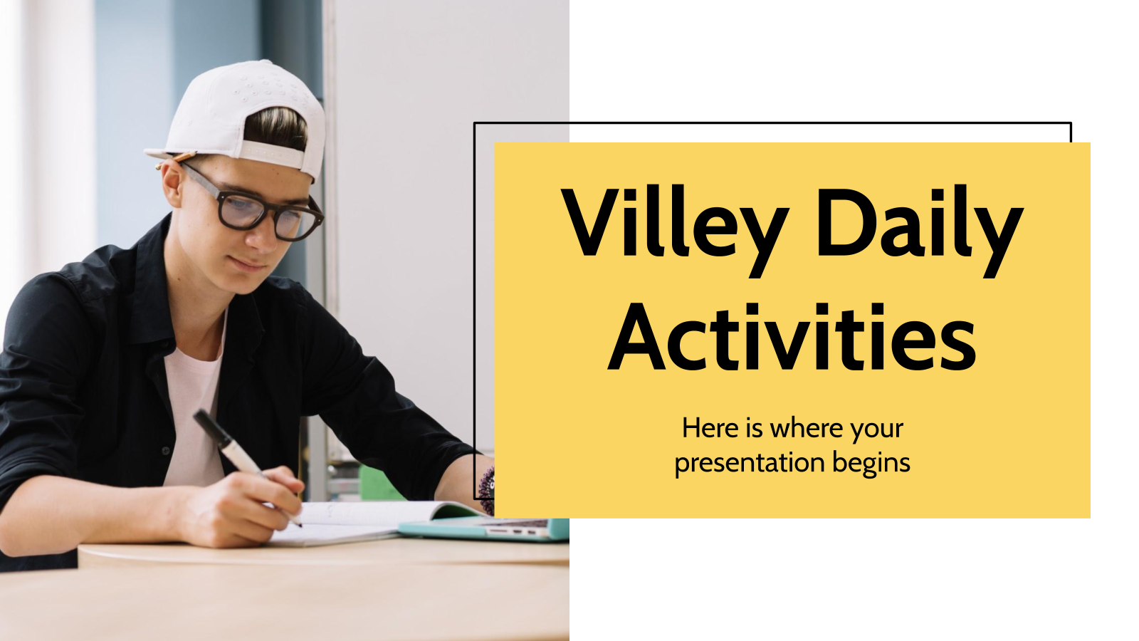 Villey Daily Activities presentation template