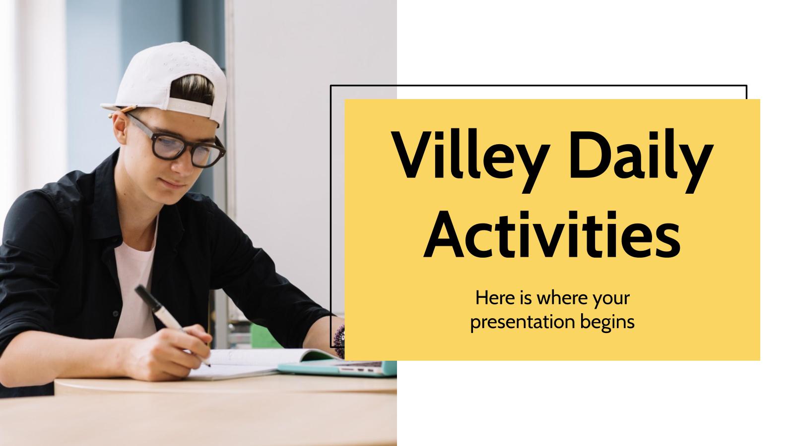 Modelo de apresentação Atividades diárias Villey