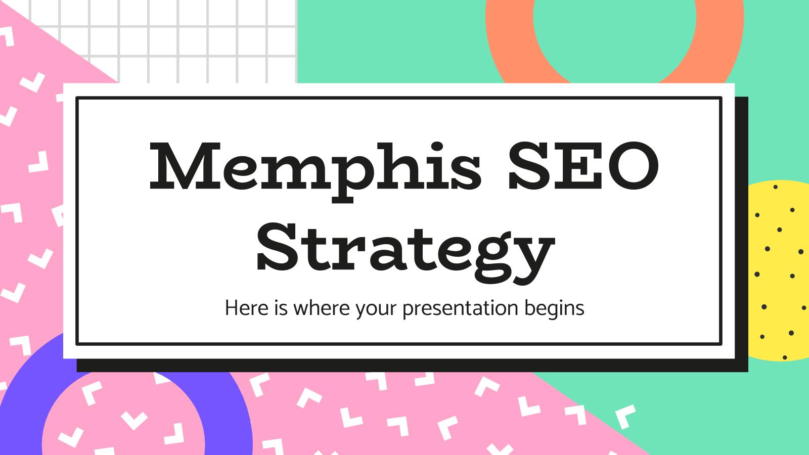 Modelo de apresentação Estratégia de SEO Memphis