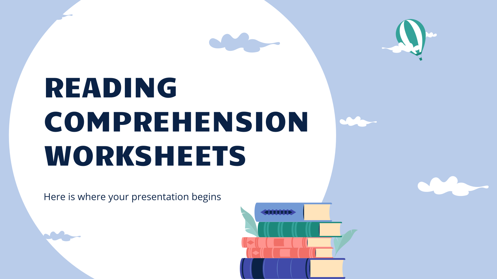 Reading Comprehension Worksheets presentation template