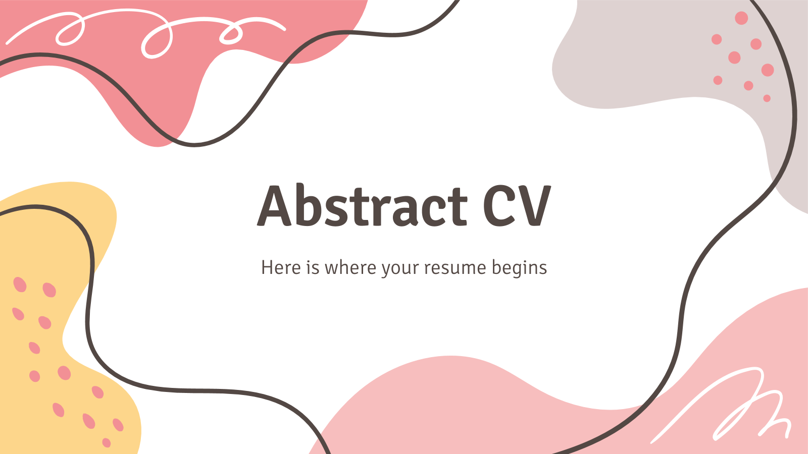 Abstract CV presentation template