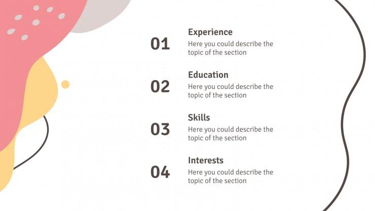 Modelo de apresentação CV abstrato