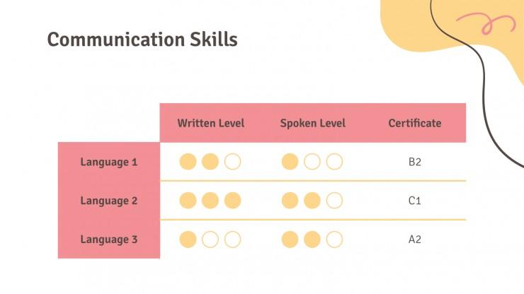 Abstract CV presentation template