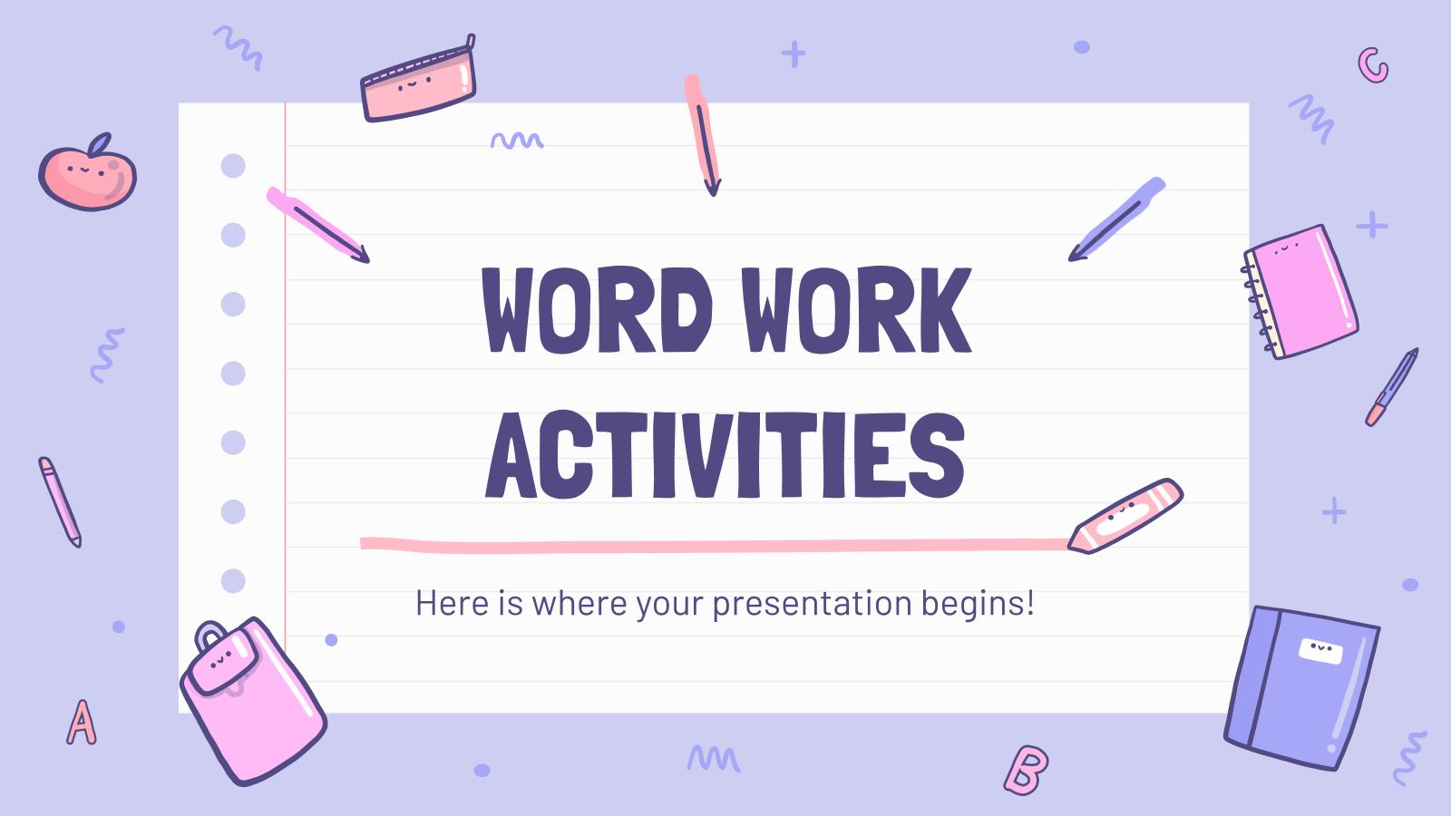 Modelo de apresentação Atividades de vocabulário
