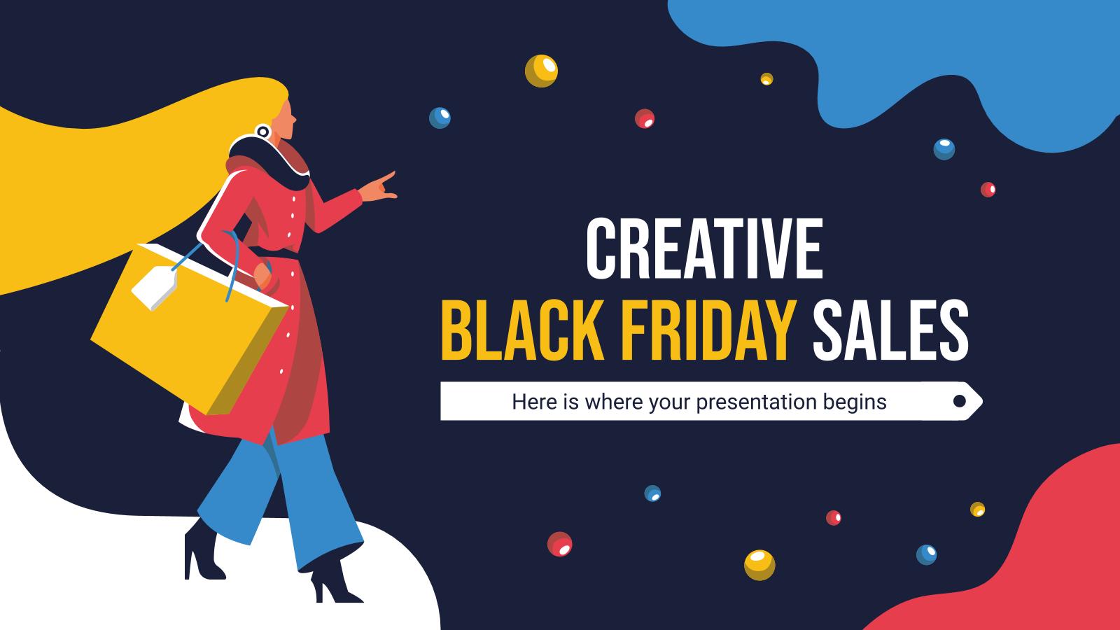 Ventes du Black Friday créatif : Modèles de présentation