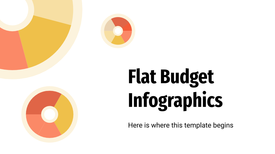 Flat Budget Infographics presentation template