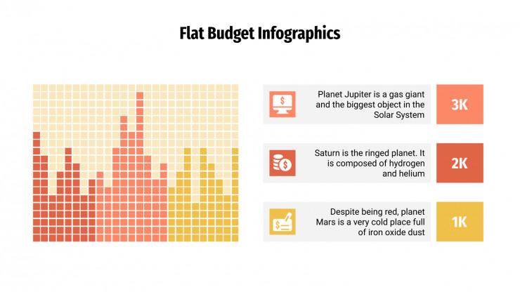 Flat Budget Infographics presentation template